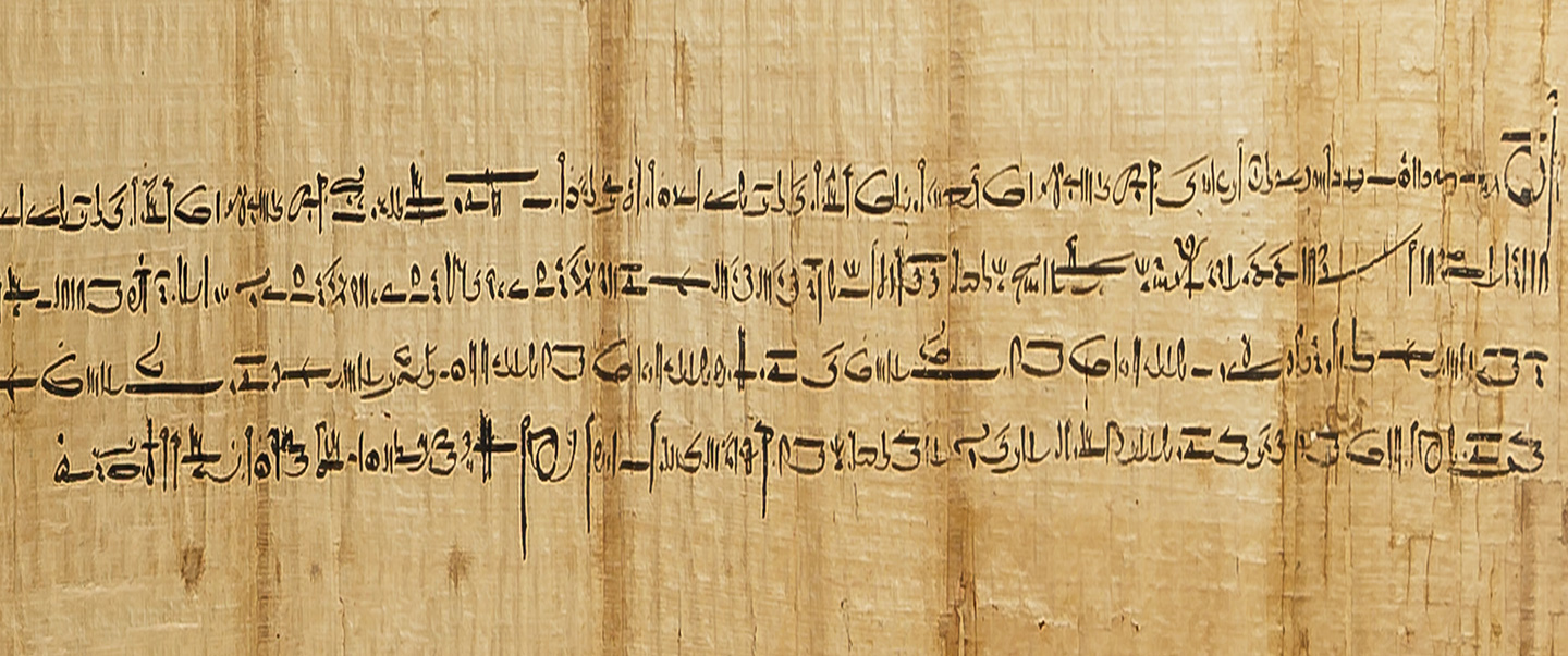 Picture of Parchment with Demotic Script