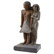 Picture of a statue of an Egyptian couple