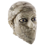 Head of a Sumerian stone statue