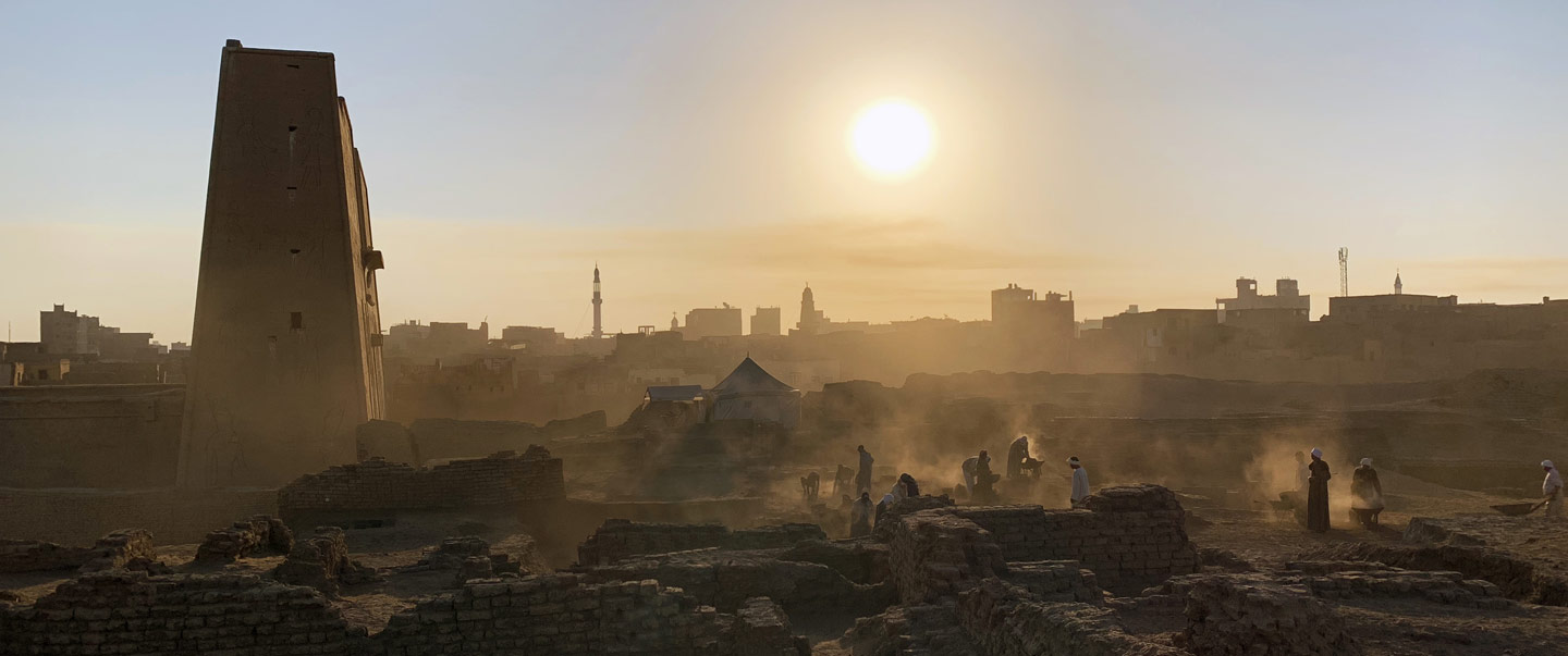 Picture of morning in Tell Edfu
