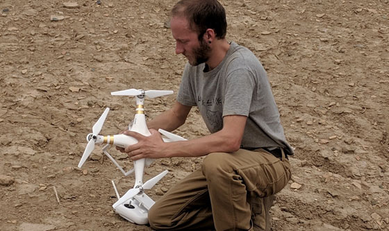 Using a drone to document the site of Nippur, 2019