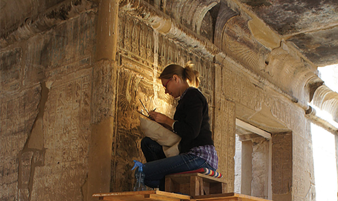 The OI's Epigraphic Survey team documenting the small Amun Temple