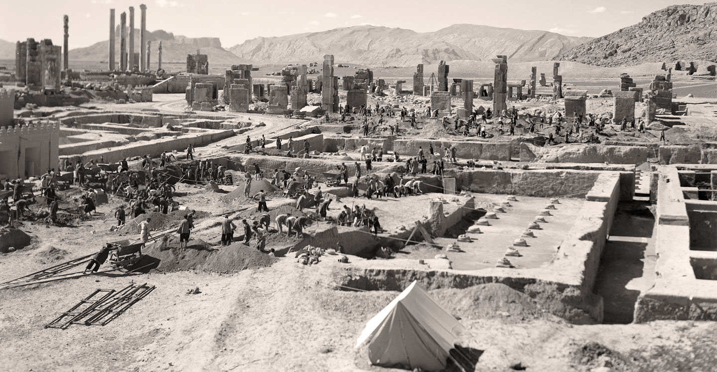 OI excavations at Persepolis, Iran