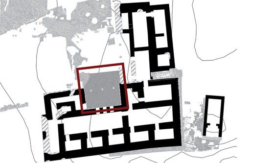 Plan of an Iron Age palace